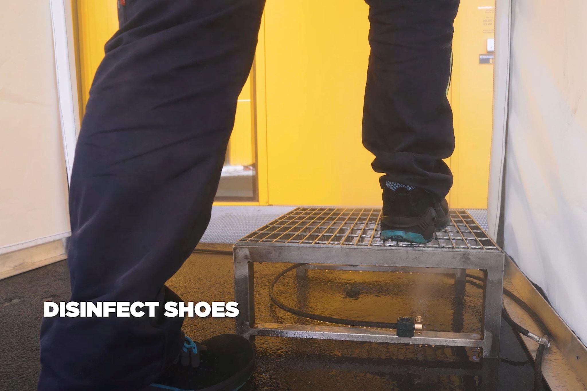 Túnel desinfección zapatos
